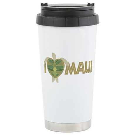 I Love Maui Stainless Steel Travel Mug
