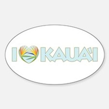 I Love Kaua'i Decal