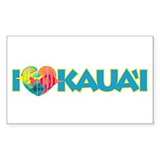 I Love Kaua'i Decal