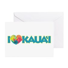 I Love Kaua'i Greeting Cards (Pk of 20)