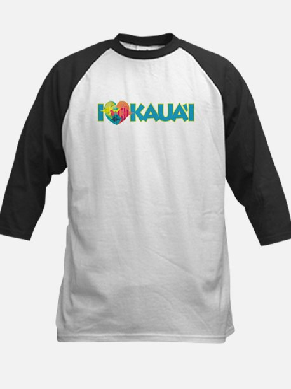 I Love Kaua'i Kids Baseball Jersey