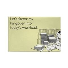My Hangover Rectangle Magnet