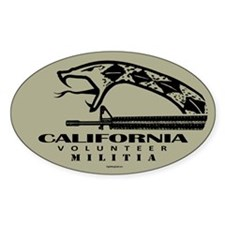 California Militia Decal