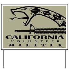 California Militia Yard Sign