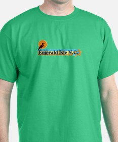 Emerald Isle NC - Beach Design T-Shirt