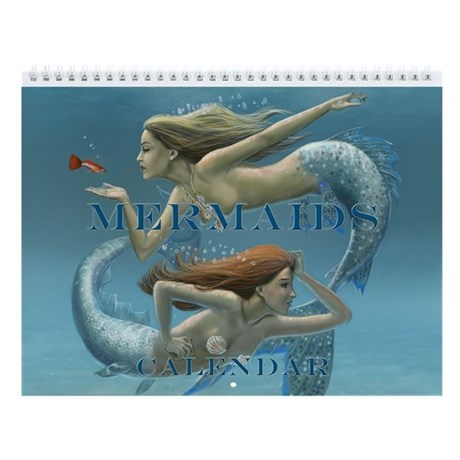 Covered Mermaids Wall Calendar