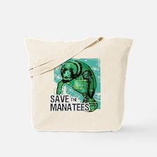 Save the Manatees Tote Bag