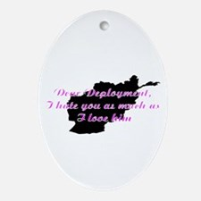 love/hate afgan Ornament (Oval)