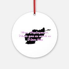 love/hate afgan Ornament (Round)