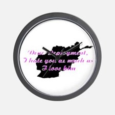 love/hate afgan Wall Clock