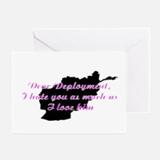 love/hate afgan Greeting Card