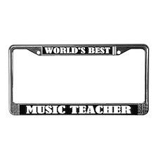 World's Best Music Teacher License Frame Gift
