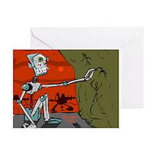 """Paleolithic Robot"" Greeting Cards (Pk of 10)"