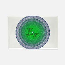 E8 Lie Green Rectangle Magnet