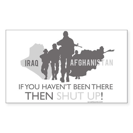 Iraq - Afghanistan Sticker (Rectangle)
