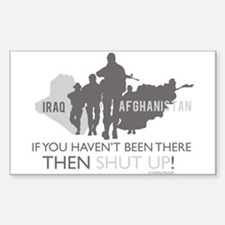 Iraq - Afghanistan Sticker (Rectangle)