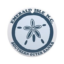 Emerald Isle NC - Sand Dollar Design Ornament (Rou