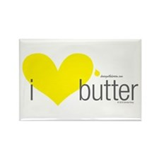 Cool I love butter Rectangle Magnet