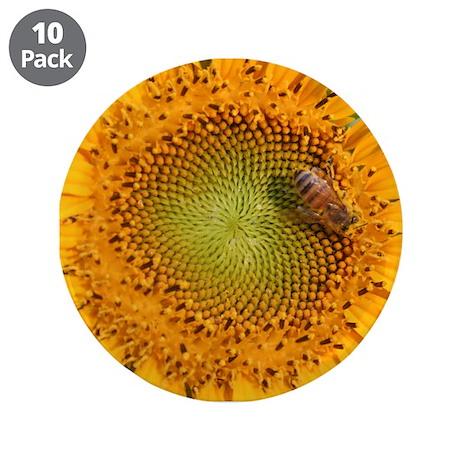 """Sunflower - 3.5"""" Button (10 pack)"""