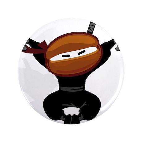 "Ninja Barista Jumping 3.5"" Button (100 pack)"