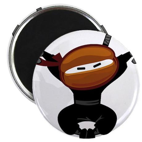 "Ninja Barista Jumping 2.25"" Magnet (100 pack)"
