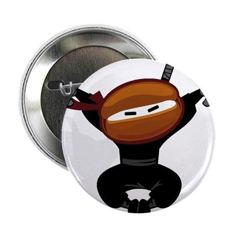 "Ninja Barista Jumping 2.25"" Button (10 pack)"