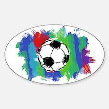 Soccer Fan Sticker (Oval)