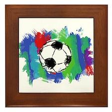 Soccer Fan Framed Tile