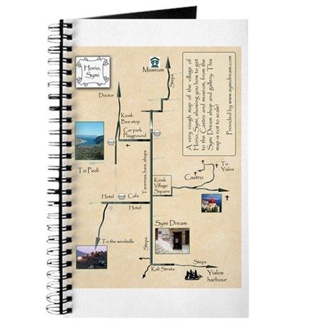 Map of Horio, Symi. Journal