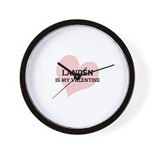 Landen Is My Valentine Wall Clock