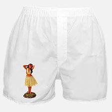 Retro Hula Girl Boxer Shorts