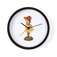 Retro Hula Girl Wall Clock