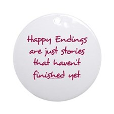 Happy Endings Finished Ornament (Round)