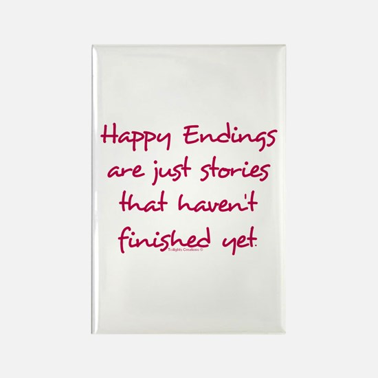 Happy Endings Finished Rectangle Magnet