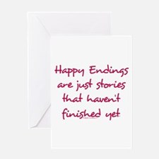 Happy Endings Finished Greeting Card