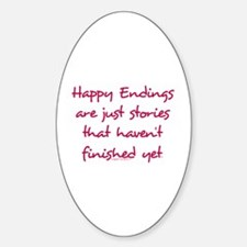 Happy Endings Finished Sticker (Oval)