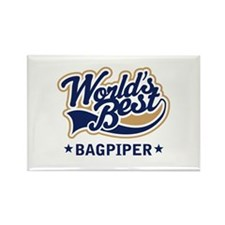 Worlds Best Bagpiper Rectangle Magnet