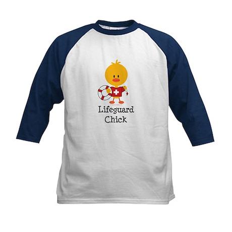 Lifeguard Chick Kids Baseball Jersey