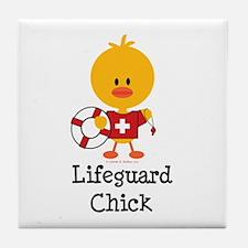 Lifeguard Chick Tile Coaster