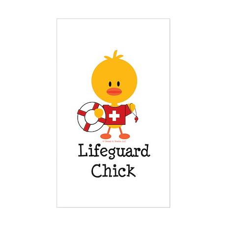 Lifeguard Chick Sticker (Rectangle)