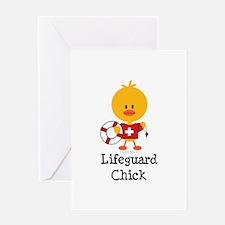 Lifeguard Chick Greeting Card