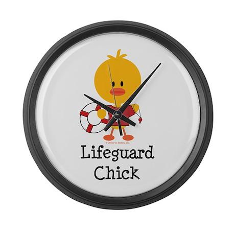 Lifeguard Chick Large Wall Clock