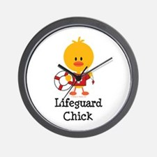 Lifeguard Chick Wall Clock