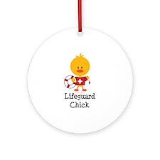 Lifeguard Chick Ornament (Round)