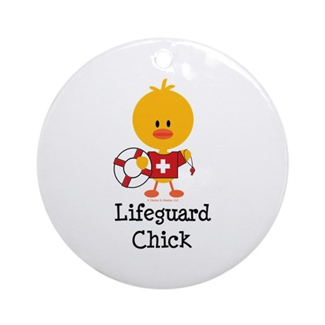 Lifeguard Chick Ornament (Round)