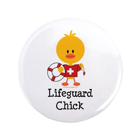 "Lifeguard Chick 3.5"" Button (100 pack)"