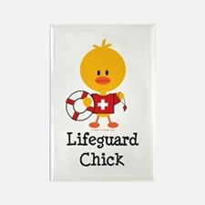 Lifeguard Chick Rectangle Magnet