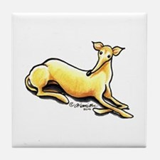 Fawn Whippet Lover Tile Coaster