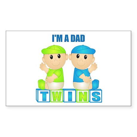 I'm A Dad (PBB:blk) Rectangle Sticker