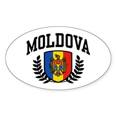 Moldova Sticker (Oval)